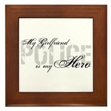 My Girlfriend is My Hero - POLICE Framed Tile