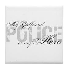 My Girlfriend is My Hero - POLICE Tile Coaster