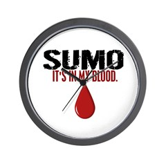 In My Blood (Sumo) Wall Clock