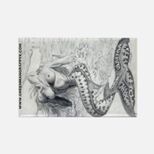 Mermaid Dreams Rectangle Magnet