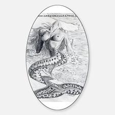 Mermaid Dreams Oval Decal