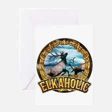 elkaholic elk art Greeting Card