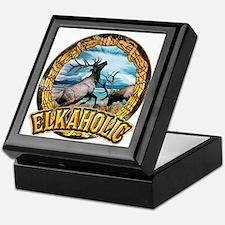 elkaholic elk art Keepsake Box