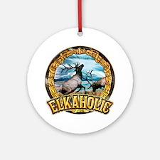 elkaholic elk art Ornament (Round)