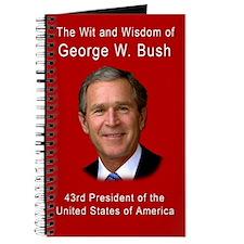 Wit and Wisdom of George W Bush Blank Book Journal