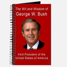 Wit and Wisdom of George W Bush Blank Book Journal