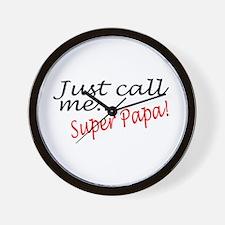 Just Call Me Super Papa Wall Clock