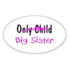 Big Sister Oval Decal