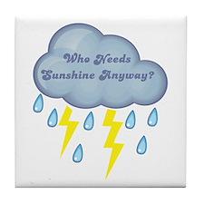 Who Needs Sunshine? Twilight Tile Coaster
