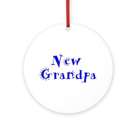 New Grandpa Ornament (Round)