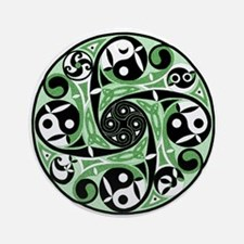 Celtic Spiral Green Keepsake Ornament