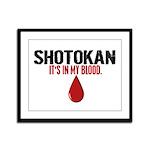 In My Blood (Shotokan) Framed Panel Print