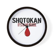 In My Blood (Shotokan) Wall Clock