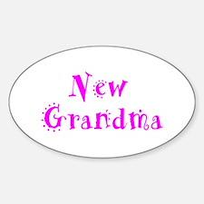 New Grandma Oval Decal