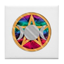 Pentagram Triple Goddess Tile Coaster