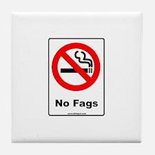No Fags Tile Coaster