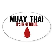 In My Blood (Muay Thai) Oval Decal
