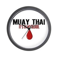 In My Blood (Muay Thai) Wall Clock