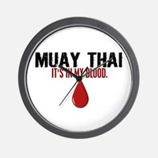 In My Blood (Muay Thai) Wall Clock