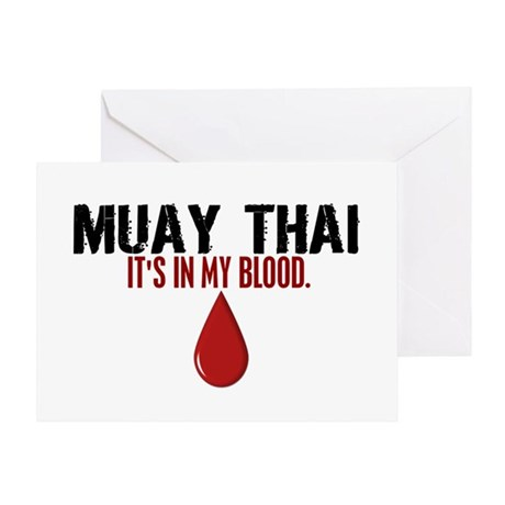 In My Blood (Muay Thai) Greeting Card