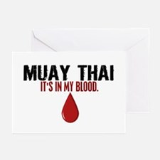 In My Blood (Muay Thai) Greeting Cards (Pk of 10)