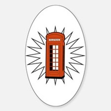 Telephone Box Oval Decal