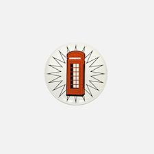 Telephone Box Mini Button