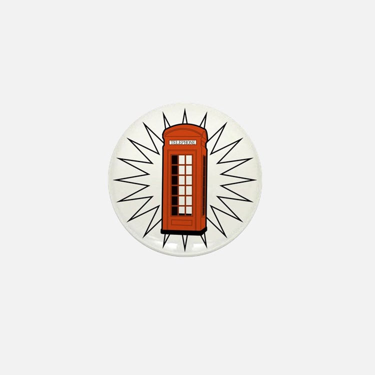 Telephone Box Mini Button