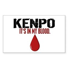 In My Blood (Kenpo) Rectangle Decal