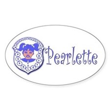 Pearlette Curlz Oval Decal