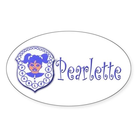 Pearlette Curlz Oval Sticker