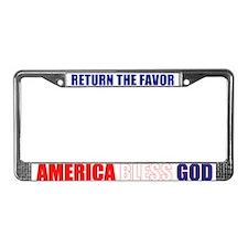 America Bless God License Plate Frame