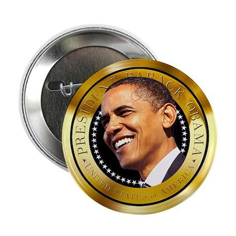 "Obama Gold Seal 2.25"" Button"