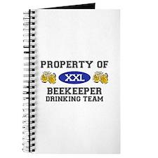 Property of Beekeeper Drinking Team Journal