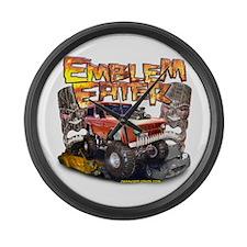 Emblem Eater Large Wall Clock