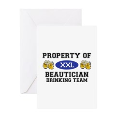 Property of Beautician Drinking Team Greeting Card