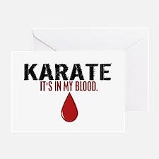 In My Blood (Karate) Greeting Card