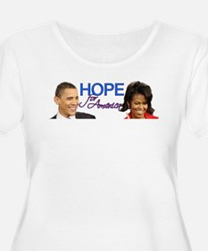 Women's Plus Size Scoop Obama Hope for America