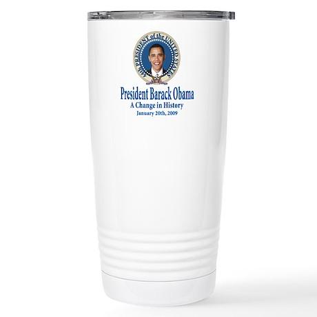President barack Obama Stainless Steel Travel Mug