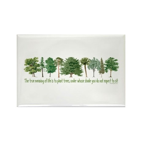 Plant a Tree Rectangle Magnet (100 pack)