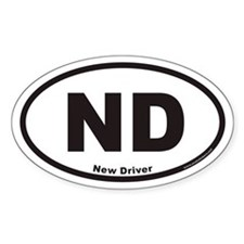 New Driver ND Euro Oval Decal