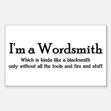 Wordsmith Rectangle Decal