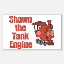 Shawn the Tank Engine Rectangle Decal