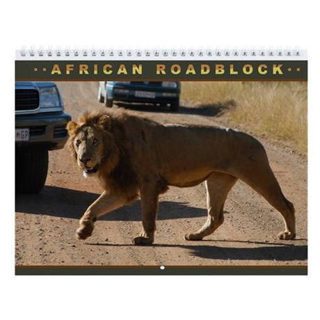 African Roadblocks Wall Calendar