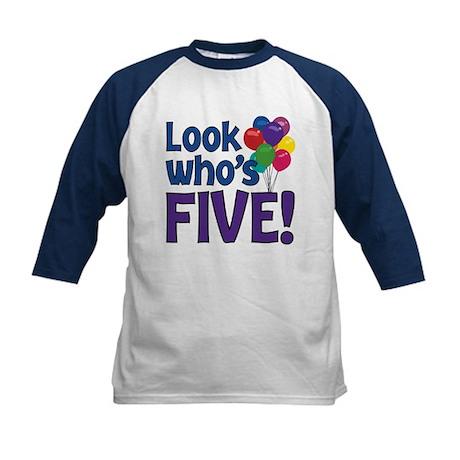 LOOK WHO'S FIVE! Kids Baseball Jersey