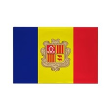 Cute Andorra flag Rectangle Magnet