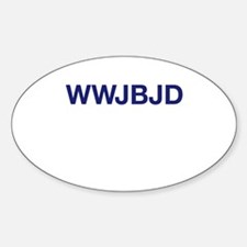 WWJBJD Oval Decal