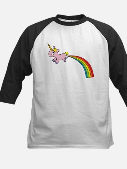 Unicorn Rainbow Poo Kids Baseball Jersey