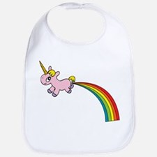 Unicorn Rainbow Poo Bib