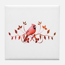 Graceful Cardinal Tile Coaster